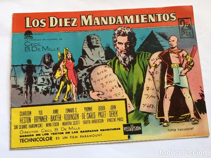 LOT110 COMIC ORIGINAL LOS DIEZ MANDAMIENTOS - ELEMPLAR MONOGRÁFICO LA PELICULA EDITORIAL FERMA 1959 (Tebeos y Comics - Ferma - Otros)