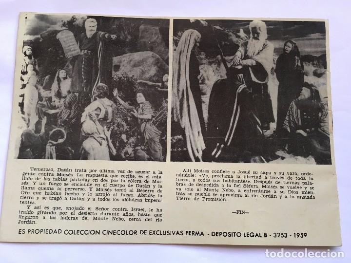 Tebeos: LOT110 COMIC ORIGINAL Los diez mandamientos - Elemplar monográfico La pelicula Editorial Ferma 1959 - Foto 2 - 84638756