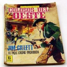 Tebeos: COLOSOS DEL OESTE - FERMA - JIM GILLETT - EL PASO: LA CIUDAD PROHIBIDA - NUMERO 55 - ORIGINAL. Lote 85553560