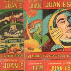 Tebeos: AVENTURAS ILUSTRADAS FERMA 1958 - JUAN ESPACIO - NºS 3,12,17,21,24,33 - MACABICH. Lote 85731268