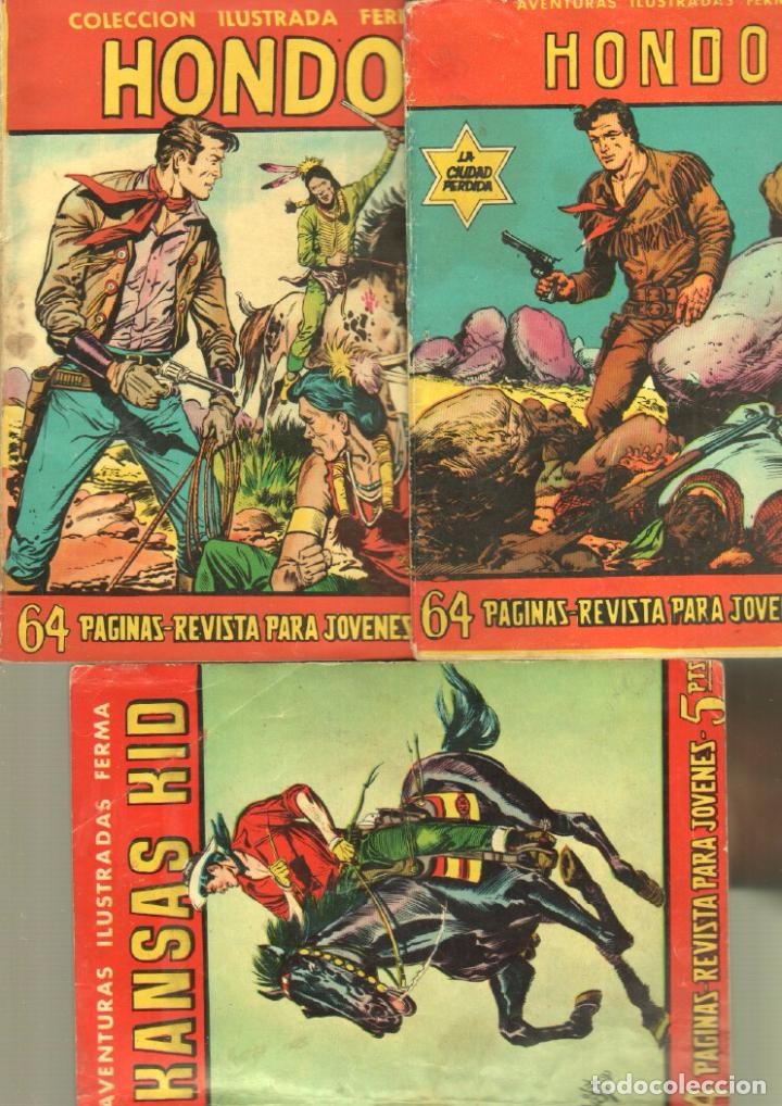 AVENTURAS ILUSTRADAS FERMA 1958 - HONDO , KANSAS KID - NºS 13,47,85 (Tebeos y Comics - Ferma - Aventuras Ilustradas)