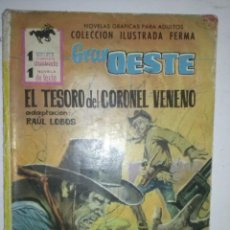 Tebeos: GRAN OESTE-Nº 191-1963- EL TESORO DEL CORONEL VENENO- GRAN BURT WINNING-MUY RARO-6460. Lote 86876514