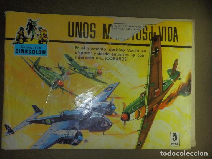 COMIC - TEBEO - CINECOLOR - UNOS MINUTOS DE VIDA - FERMA - COLECCION COMBATE - Nº 31 - 1969 (Tebeos y Comics - Ferma - Otros)