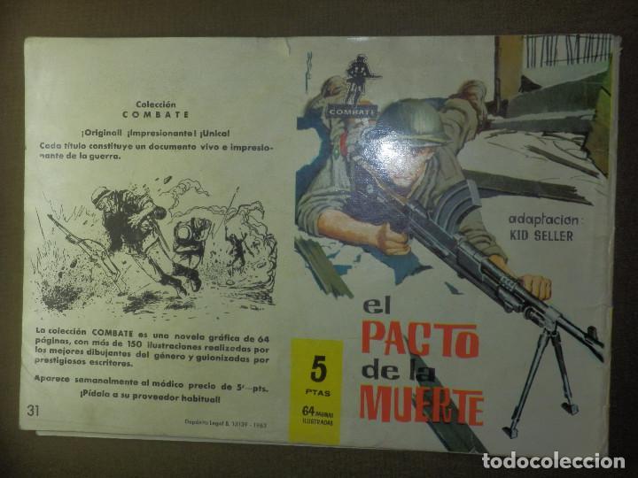 Tebeos: COMIC - TEBEO - CINECOLOR - UNOS MINUTOS DE VIDA - FERMA - COLECCION COMBATE - Nº 31 - 1969 - Foto 2 - 87047748