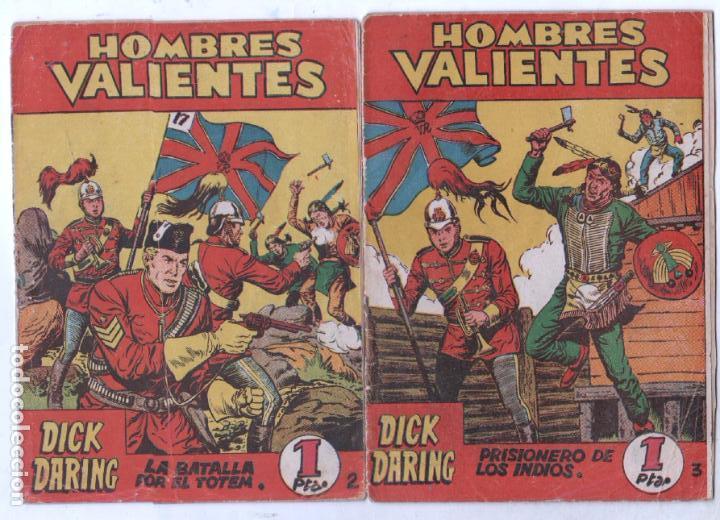 Tebeos: HOMBRES VALIENTES, DICK DARING - LOTE NºS - 2,3,4,5,8,16,18,20,24 ORIGINALES EDI. FERMA 1958 - Foto 2 - 87586060