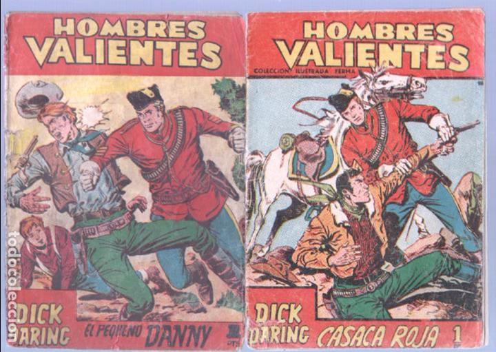 Tebeos: HOMBRES VALIENTES, DICK DARING - LOTE NºS - 2,3,4,5,8,16,18,20,24 ORIGINALES EDI. FERMA 1958 - Foto 4 - 87586060