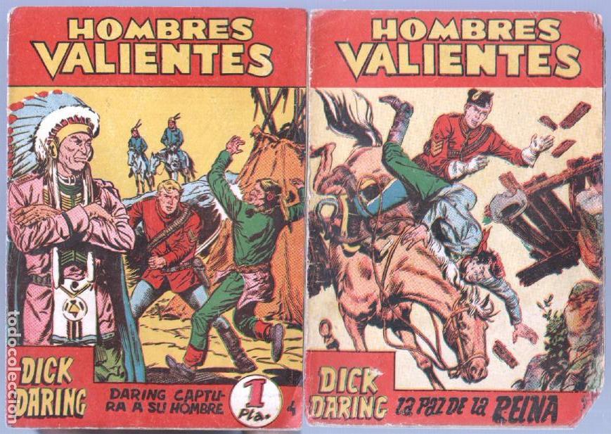 Tebeos: HOMBRES VALIENTES, DICK DARING - LOTE NºS - 2,3,4,5,8,16,18,20,24 ORIGINALES EDI. FERMA 1958 - Foto 5 - 87586060