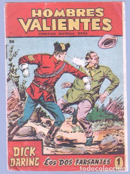 Tebeos: HOMBRES VALIENTES, DICK DARING - LOTE NºS - 2,3,4,5,8,16,18,20,24 ORIGINALES EDI. FERMA 1958 - Foto 6 - 87586060