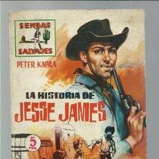 Tebeos: SENDAS SALVAJES 2: LA HISTORIA DE JESSE JAMES, 1962, FERMA, BUEN ESTADO.. Lote 89907556