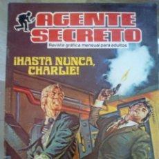 Tebeos: AGENTE SECRETO. HASTA NUNCA CHARLIE. Lote 90016032