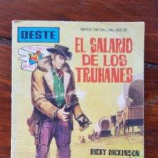 Tebeos: EL SALARIO DE LOS TRUHANES, Nº 117 - EDITORIAL FERMA 1962- NOVELAS GRÁFICAS DEL OESTE. Lote 90613745