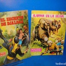 Tebeos: LOTE DE COMICS AVENTURAS ILUSTRADAS DOS NUMEROS EDICION DE 1968. Lote 95577483