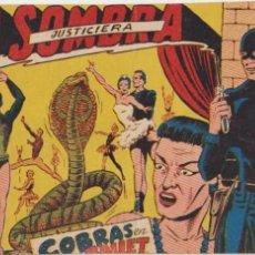 Tebeos: LA SOMBRA JUSTICIERA Nº 15. FERMA 1954.. Lote 97113587