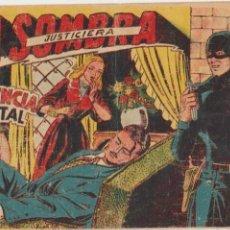 Tebeos: LA SOMBRA JUSTICIERA Nº 34. FERMA 1954.. Lote 97125567