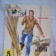 Tebeos: SOLITARIO JOHN ALAN BUICK SENDAS SALVAJES Nº 21 NOVELA GRAFICA EDITORIAL FERMA TRASERA JERRY LEWIS. Lote 98108595