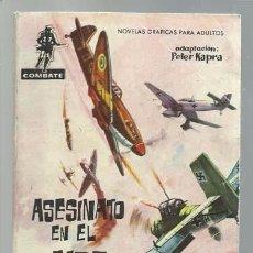 Tebeos: COMBATE 76: ASESINATO EN EL AIRE, 1962, FERMA, BUEN ESTADO. Lote 98352567