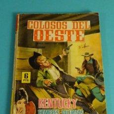 Tebeos: KENTUCKY. HOMBRES VALEROSOS. COLOSOS DEL OESTE. CONTRAPORTADA E. HARTMAN Y S. POITIER. Lote 101469039