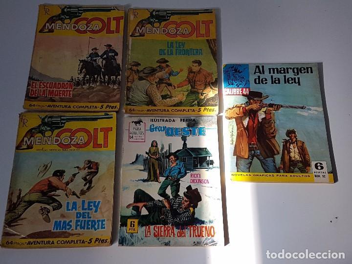 LOTE DE 5 TEBEOS HISTÓRIAS DEL OESTE ( AÑOS 60 ) (Tebeos y Comics - Ferma - Gran Oeste)