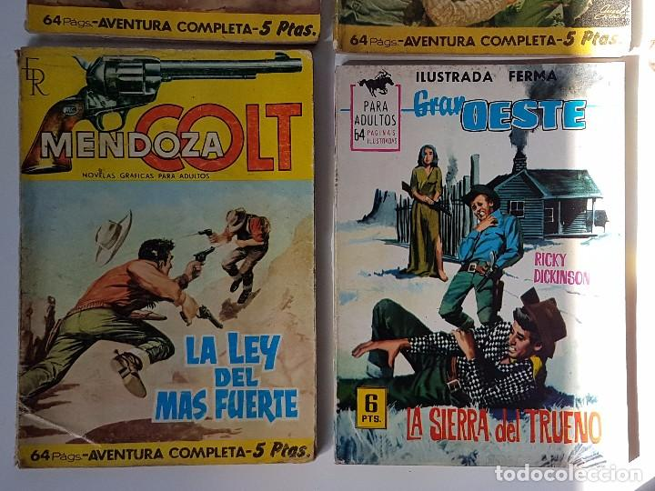 Tebeos: LOTE DE 5 TEBEOS HISTÓRIAS DEL OESTE ( AÑOS 60 ) - Foto 3 - 101912231