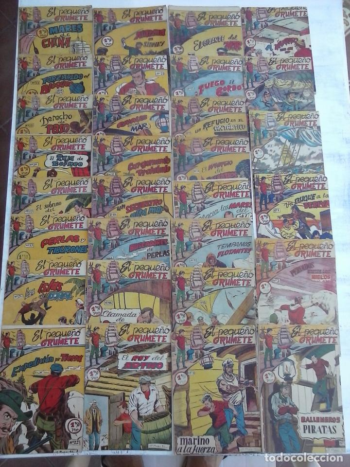 EL PEQUEÑO GRUMETE ORIGINAL 1958 FERMA - 30 TEBEOS , 1 AL 25, 27 ,30,32,33,34 VER PORTADAS (Tebeos y Comics - Ferma - Otros)