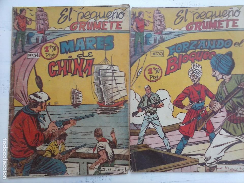 Tebeos: EL PEQUEÑO GRUMETE ORIGINAL 1958 FERMA - 30 TEBEOS , 1 AL 25, 27 ,30,32,33,34 VER PORTADAS - Foto 9 - 103973527