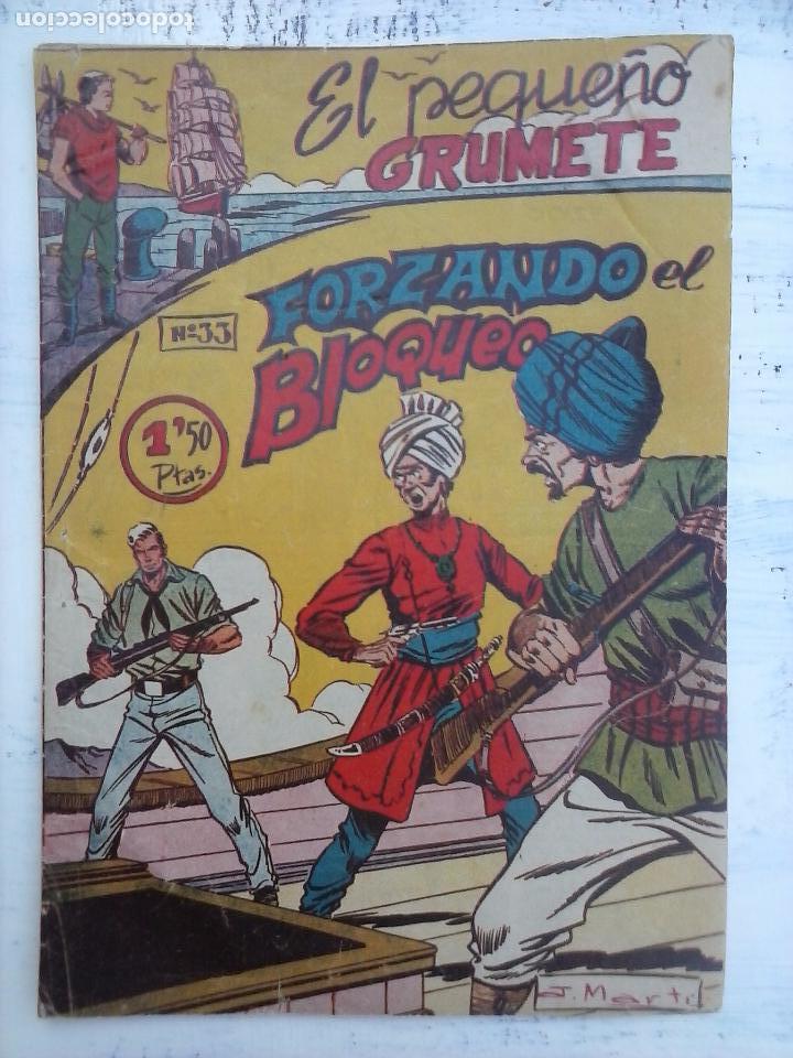Tebeos: EL PEQUEÑO GRUMETE ORIGINAL 1958 FERMA - 30 TEBEOS , 1 AL 25, 27 ,30,32,33,34 VER PORTADAS - Foto 11 - 103973527