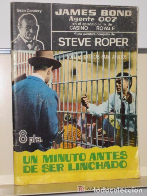 AGENTE 007 JAMES BOND - STEVE ROPER - SEAN CONNERY 33 - UN MINUTO ANTES DE SER LINCHADO- FERMA (Tebeos y Comics - Ferma - Otros)