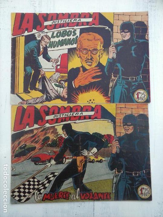 LA SOMBRA JUSTICIERA ORIGINALES NºS 18 Y 27 - EDI. FERMA 1954 - FERRANDO-MARTÍNEZ OSETE (Tebeos y Comics - Ferma - Otros)