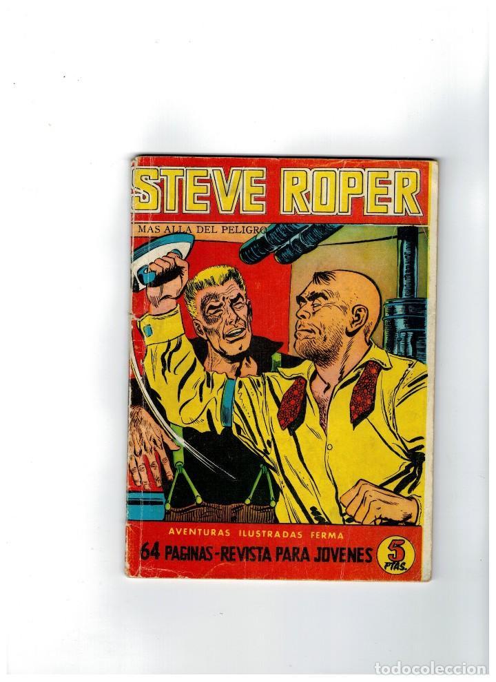 STEVE ROPER Nº 7 -FERMA 1960- COLECCIÓN DE 8 NÚMEROS. (Tebeos y Comics - Ferma - Aventuras Ilustradas)