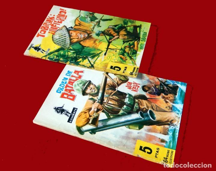 Tebeos: COMBATE Nº 29 Y COMBATE EXTRA Nº 10, ORIGINALES, 1962, EDITORIAL FERMA - Foto 2 - 118835079