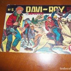 Tebeos: DAVI-ROY--Nº 5--ORIGINAL. Lote 120567527