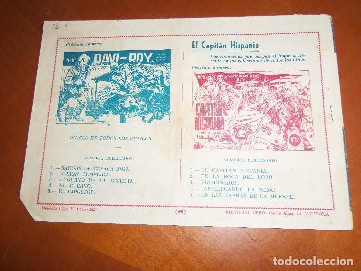 Tebeos: DAVI-ROY--Nº 5--ORIGINAL - Foto 2 - 120567527