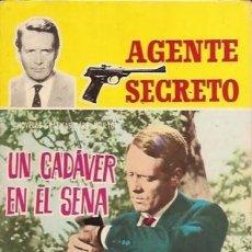 Tebeos: AGENTE SECRETO- Nº 4 -´UN CADÁVER EN EL SENA`-1966 -BUENO-GRAN JULIO MONTAÑÉS-DIFÍCIL-LEAN-8713. Lote 120754623
