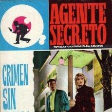 Tebeos: AGENTE SECRETO- Nº 25 -CRIMEN SIN HUELLA-1966 -BUENO-GRAN FÉLIX CASCAJO-DIFÍCIL-LEAN-8714. Lote 120755007