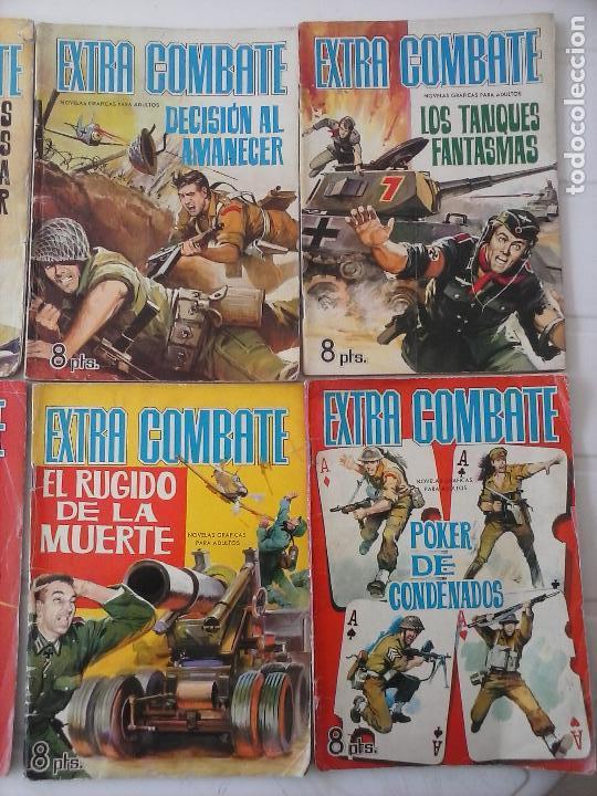 Tebeos: EXTRA COMBATE - LOTE DE 58 NºS FERMA 1965 - 1,3 AL 10,13,15,16,18,19,20,22,23,24,ETC - Foto 6 - 121242407