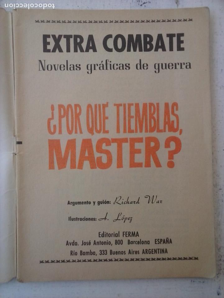 Tebeos: EXTRA COMBATE - LOTE DE 58 NºS FERMA 1965 - 1,3 AL 10,13,15,16,18,19,20,22,23,24,ETC - Foto 23 - 121242407