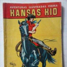 Tebeos: AVENTURAS ILUSTARDAS FERMA 1958 - Nº 18 KANSAS KID - DIBUJO MACABICH. Lote 122829351