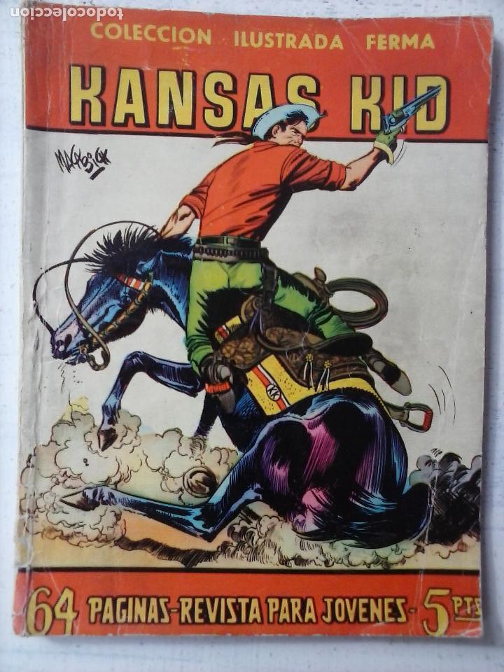 AVENTURAS ILUSTARDAS FERMA 1958 - Nº 46 KANSAS KID - DIBUJO MACABICH (Tebeos y Comics - Ferma - Aventuras Ilustradas)