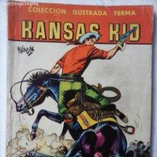 Tebeos: AVENTURAS ILUSTARDAS FERMA 1958 - Nº 46 KANSAS KID - DIBUJO MACABICH. Lote 122829383