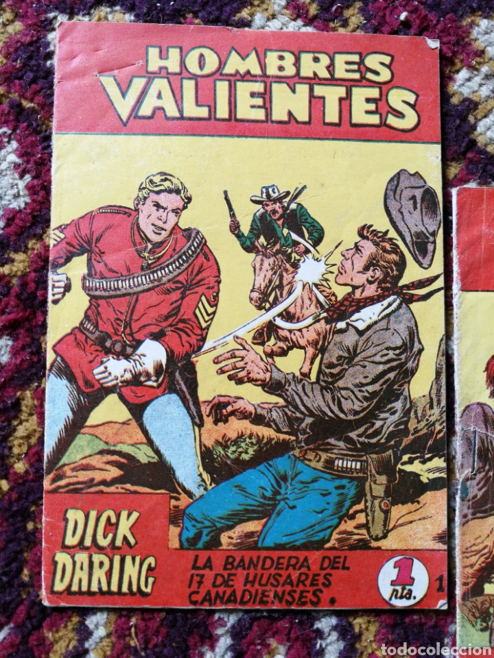 Tebeos: HOMBRES VALIENTES- DICK DARING (SERIE ROJA) N°1 y2.- COLECCIÓN ILUSTRADA FERMA. - Foto 2 - 124211320