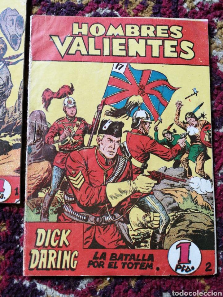 Tebeos: HOMBRES VALIENTES- DICK DARING (SERIE ROJA) N°1 y2.- COLECCIÓN ILUSTRADA FERMA. - Foto 3 - 124211320