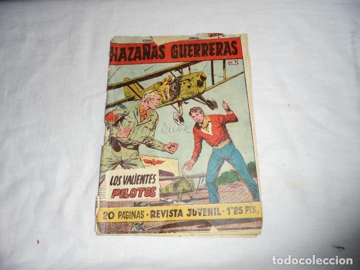HAZAÑAS GUERRERAS Nº 9.-LOS VALIENTES PILOTOS PORTADAS RAJADAS VER FOTOS (Tebeos y Comics - Ferma - Otros)