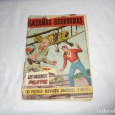 Tebeos: HAZAÑAS GUERRERAS Nº 9.-LOS VALIENTES PILOTOS PORTADAS RAJADAS VER FOTOS. Lote 126732475