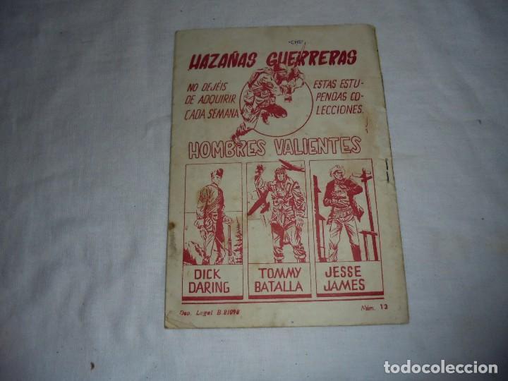 Tebeos: HOMBRES VALIENTES.TOMMY BATALLA BUCANEROS BIRMANOS Nº 13 - Foto 4 - 126732987