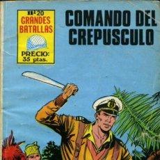 Tebeos: GRANDES BATALLAS -Nº 20 - COMANDO DEL CREPÚSCULO -GRAN FÉLIX MOLINARI-BUENO-RARO-LEAN-9034. Lote 127171611