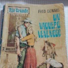 Tebeos: UN VAQUERO VENENOSO Nº 112 EDITORIAL FERMA 1966. Lote 127658811