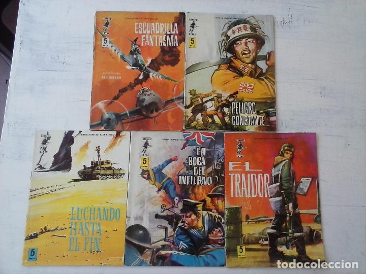 COMBATE EXTRA FERMA 1963 - NºS 3,5,6,7,8 - FORMATO GRANDE - (Tebeos y Comics - Ferma - Combate)
