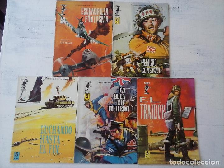 Tebeos: COMBATE EXTRA FERMA 1963 - NºS 3,5,6,7,8 - FORMATO GRANDE - - Foto 2 - 127680051