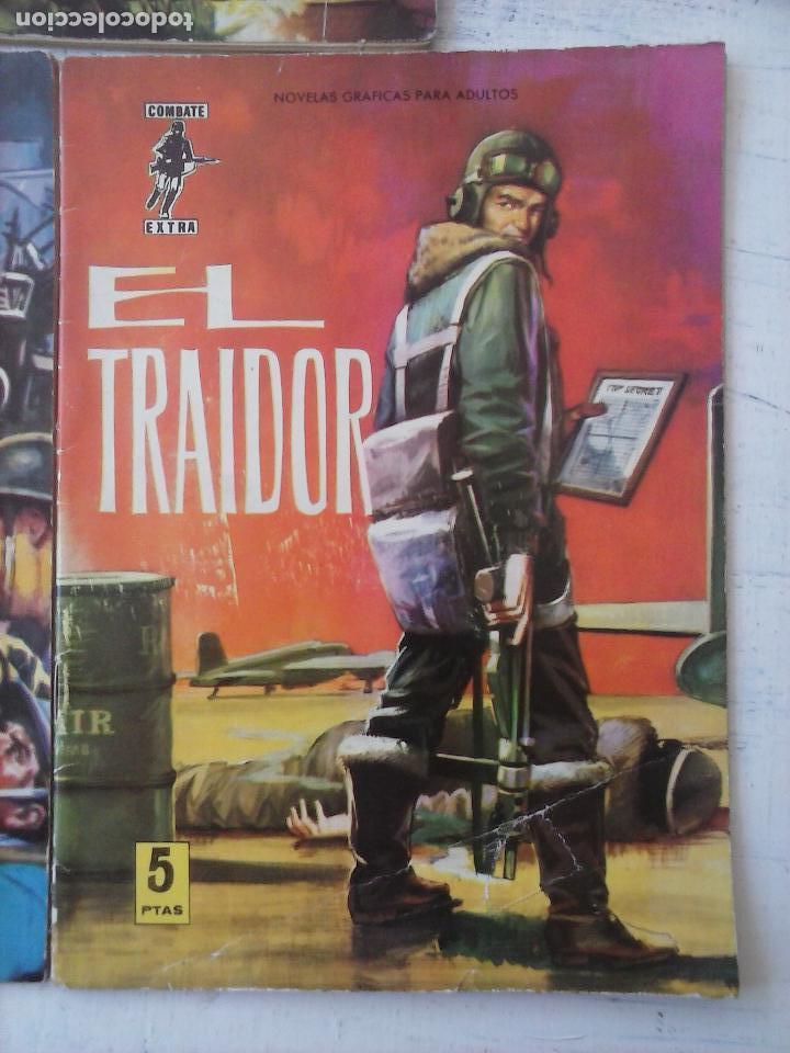 Tebeos: COMBATE EXTRA FERMA 1963 - NºS 3,5,6,7,8 - FORMATO GRANDE - - Foto 6 - 127680051