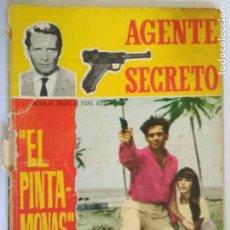 Tebeos: AGENTE SECRETO, Nº 19, EL PINTAMONAS, AÑO 1966. Lote 130780608